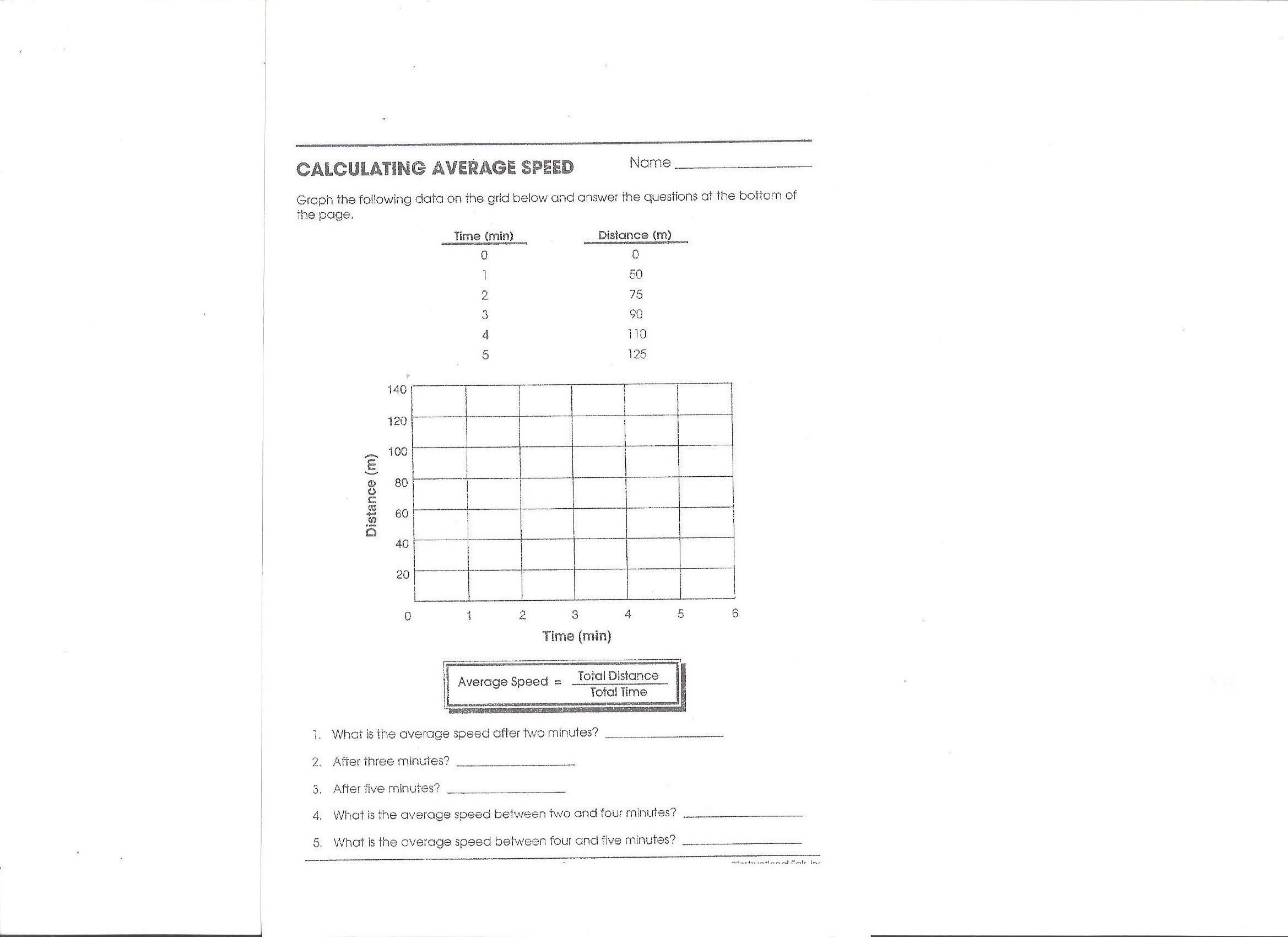 Worksheets Calculating Speed Worksheet homework physics download file